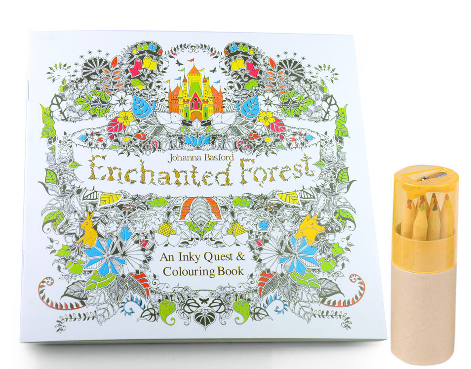 Livre Coloriage Anti Stress Adulte.Cahier De Coloriage Anti Stress Enchanted Forest