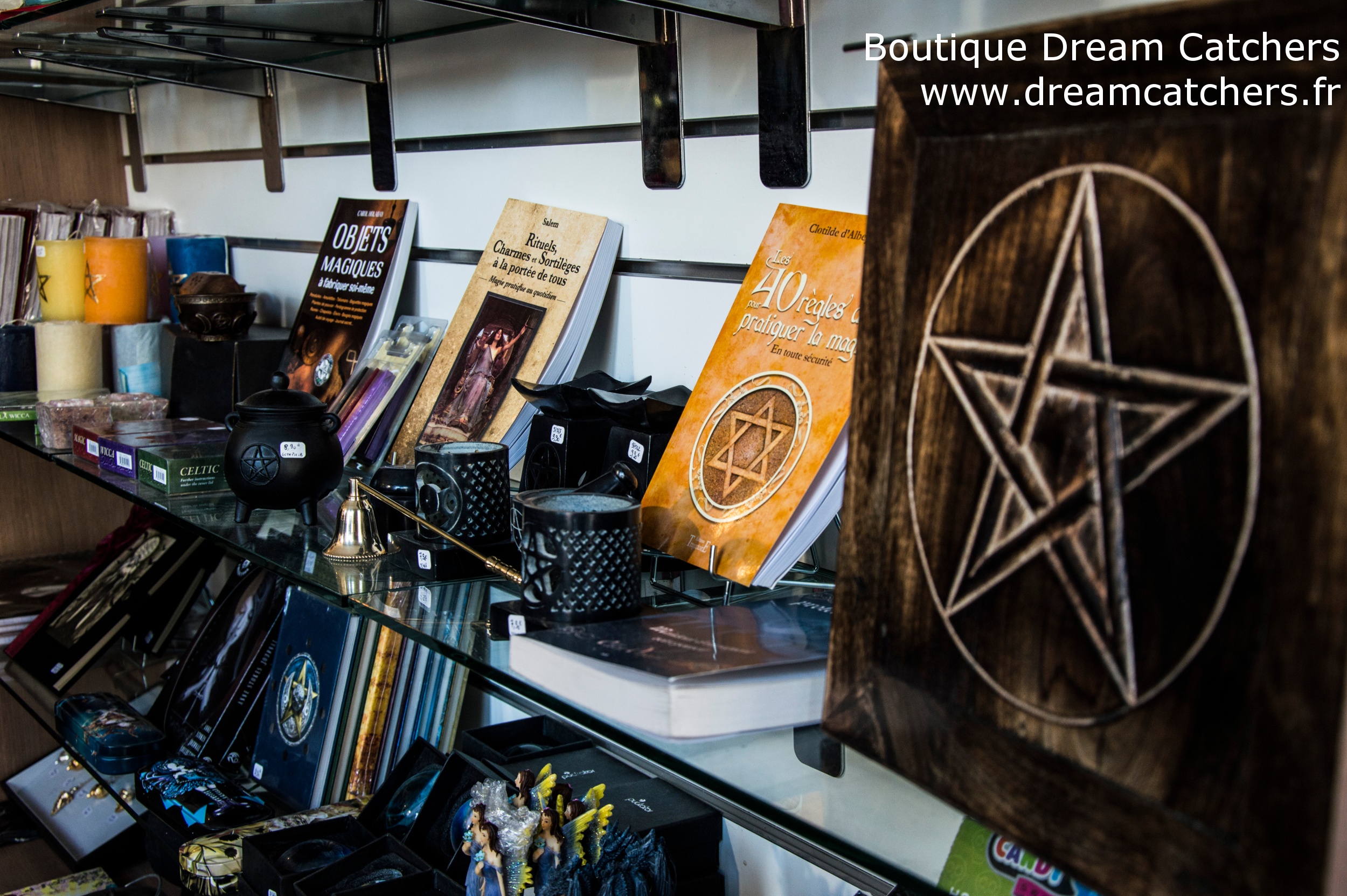 La boutique de Dream Catchers : rayon ésotérique et pagan