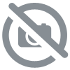 Unique and handcrafted creation, superb blue and rhinestone gothic corset